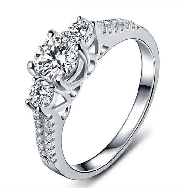 Shuangr boda Anillos para las mujeres de plata de color joyería del  contrato anillo bague zirconia moda bijoux Accesorios 8b08b379731