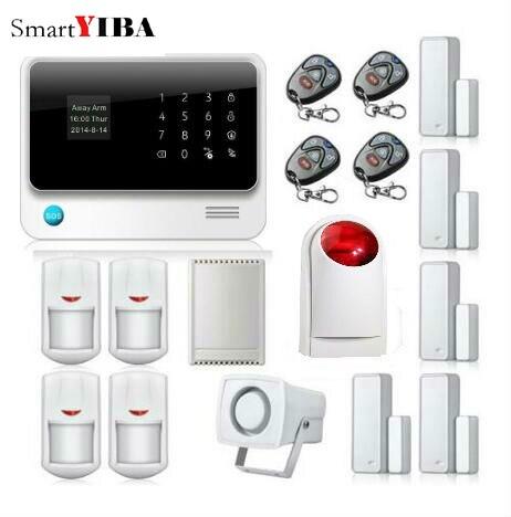 SmartYIBA Accueil Maison Smart Résidentiel Sécurité Alarmes de Sécurité WIFI APP Contrôle Relayout Stroboscopique Sirène Porte Ouverte Rappel D'alarme