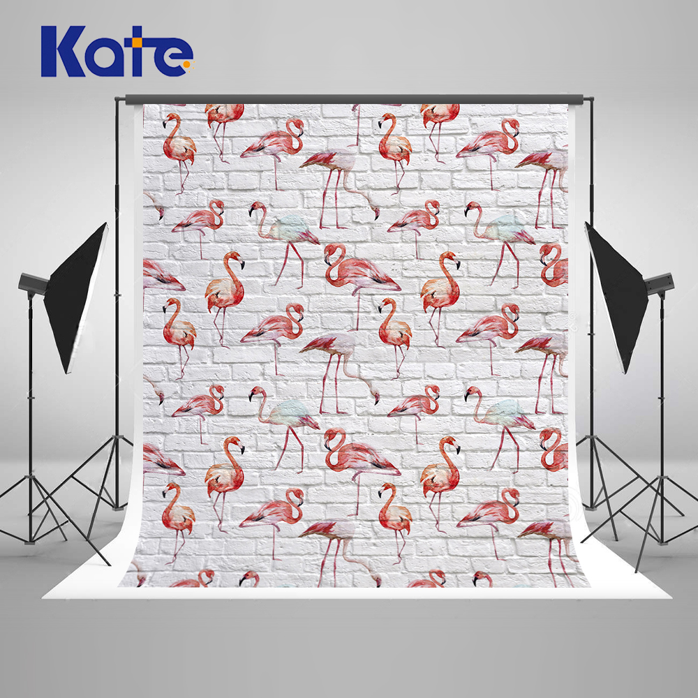 Kate White Brick Studio Background Backdrop Flamingo Newborn Photo Background Photography Backdrop Girl Boy Baby Shower Backdrop newborn photography background blue sky white clouds photo backdrop vinyl balloons scattered petals backgrounds for photo studio