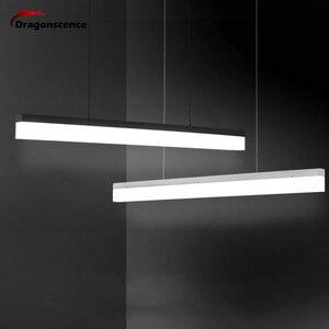 Image 4 - Dragonscence Modern LED Pendant Lights for Corridor Aisle Entrance Dining Living Room Long Strip Pendant Lamp Home Fixture