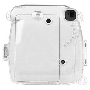Image 2 - Fujifilm Instax Mini 9 Case przezroczysty kryształ plastikowa obudowa Camera Protect Case torba z paskiem do Fujifilm instax Mini 8/9/8 +