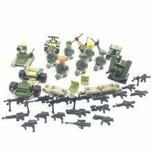 Moderno Militar Do Exército Building Blocks Toy, Warefare Construção Brinquedos para As Crianças, Com Armas e Acessórios