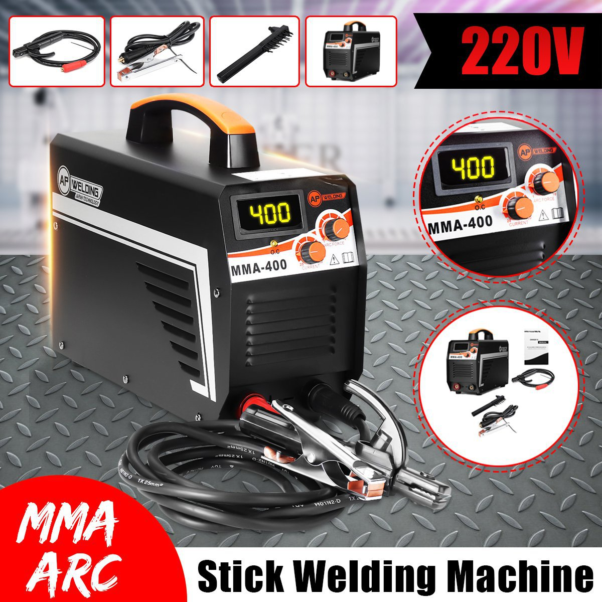 Mini MMA IGBT Inverter Arc Electric Welding Machine 220V Digital Display MMA Arc Stick Welders For Welding Working Machine Tools