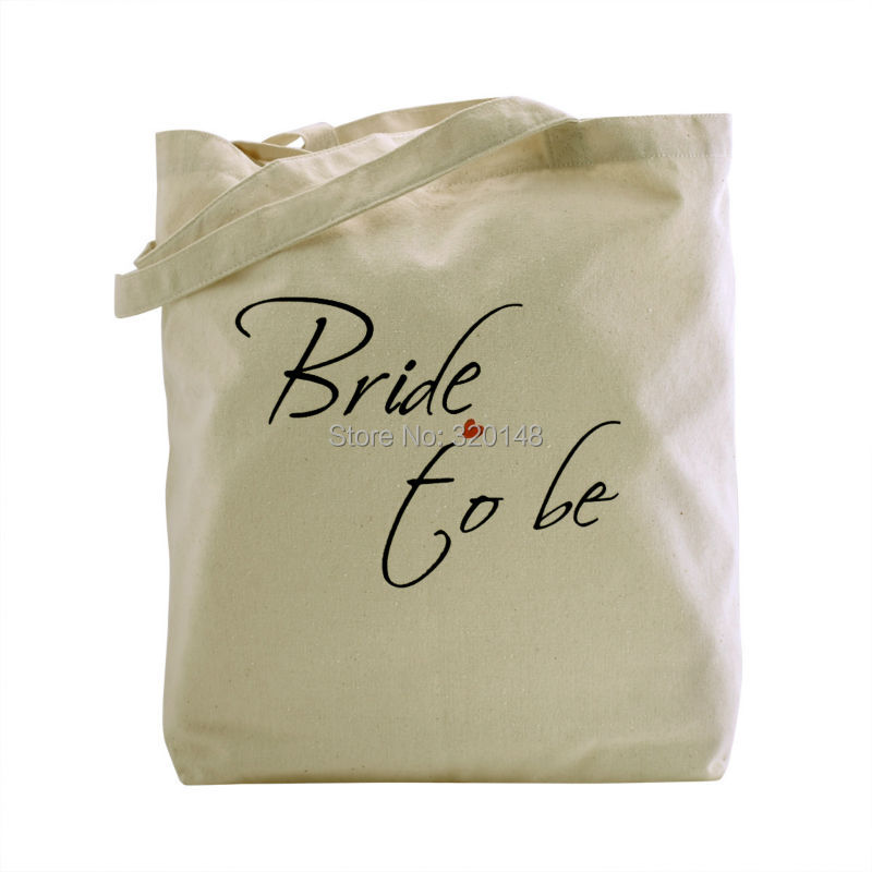 Women wedding accessories Bride to Be Tote Bag Natural Canvas 100% Cotton TB-05 заколка to be bride
