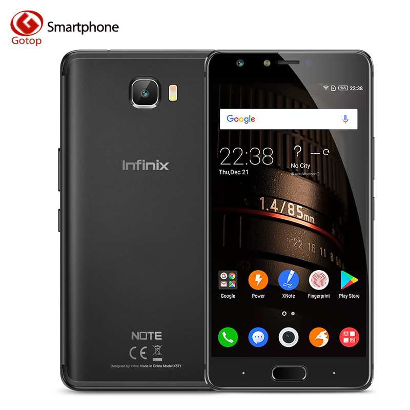 Infinix Note 4 pro Smartphone Android 7.0 5.7'' MTK6753 Octa Core 1.3GHz 3GB 32GB 4500mAh Battery 13.0MP Fingerprint Cellphone