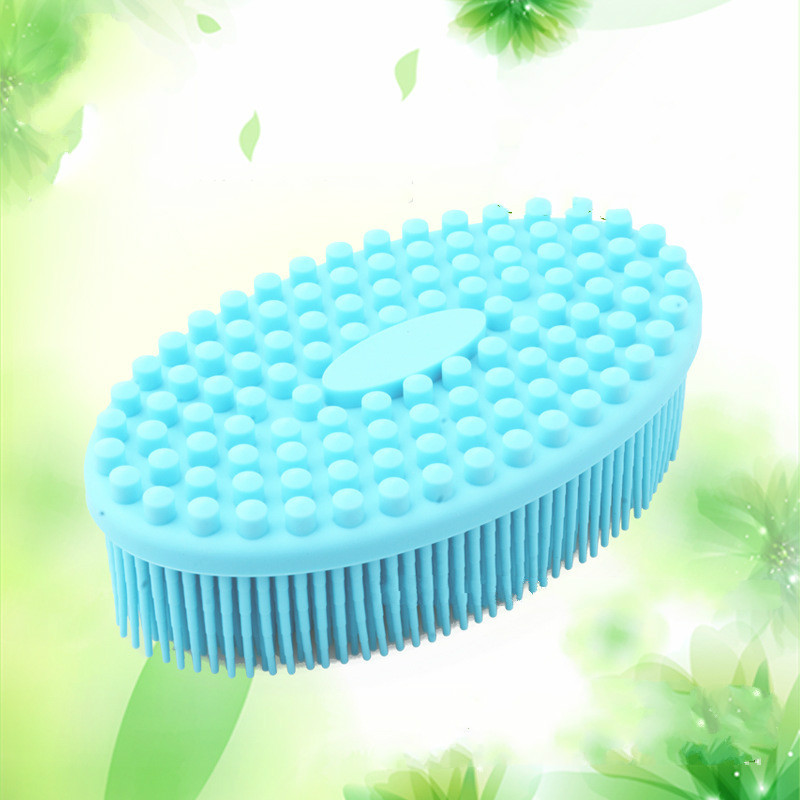 Baby bath brushes ultra soft silicone bath and shower massage brush shampoo brush gentle touch cleaning brush children\'s makeup (4)