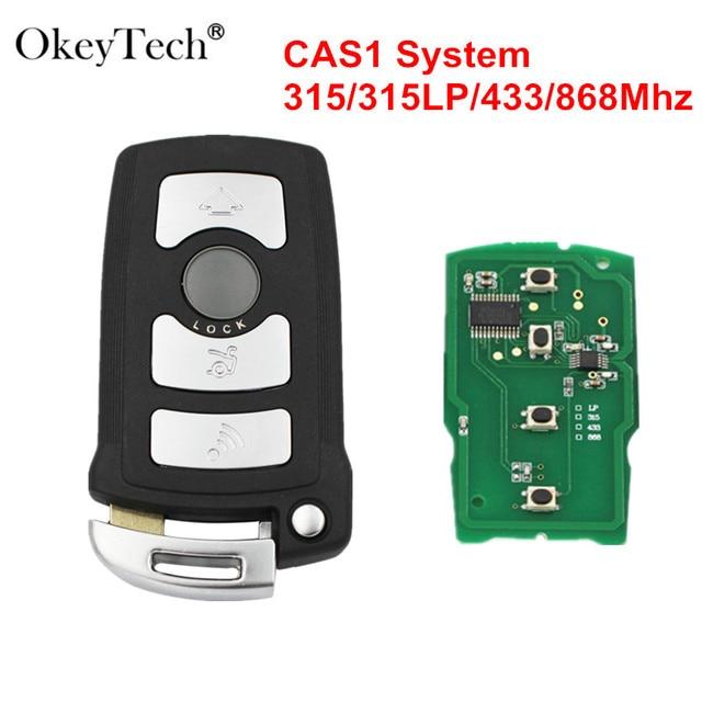 Okeytech 4 Buttons 315//315LP/433/868Mhz PCF7944 CAS1 Smart Car Remote Key Shell Fob For BMW 7 Series E65 E66 E67 E68 745i 750i