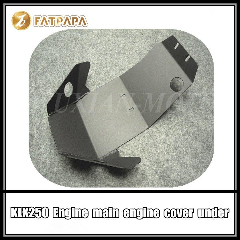 Accessoires de moto en aluminium sous le couvercle du moteur pour Kawasaki KLX250 KLX 250 garde-moteur
