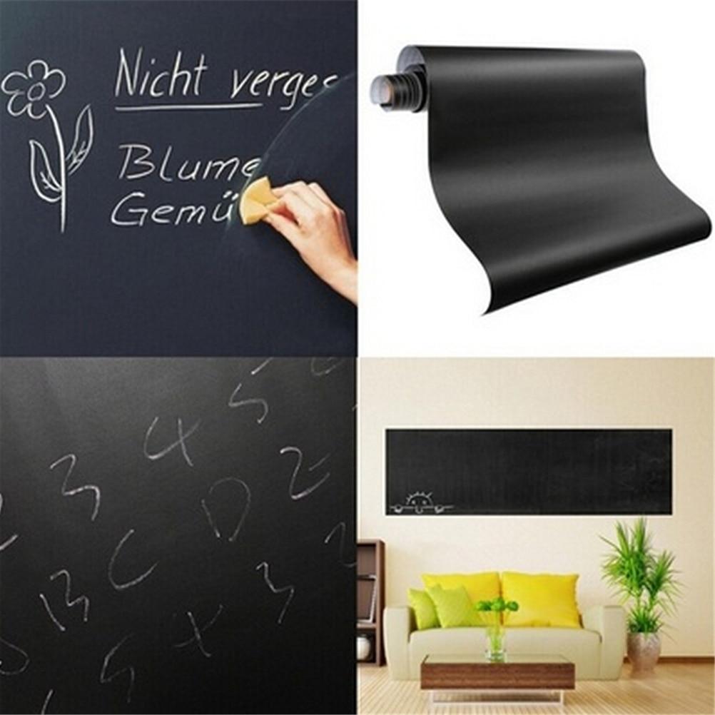 Chalkboard Blackboard Stickers 60x200cm Removable Vinyl Draw Erasable Blackboard Learning Multifunction Office Supplies