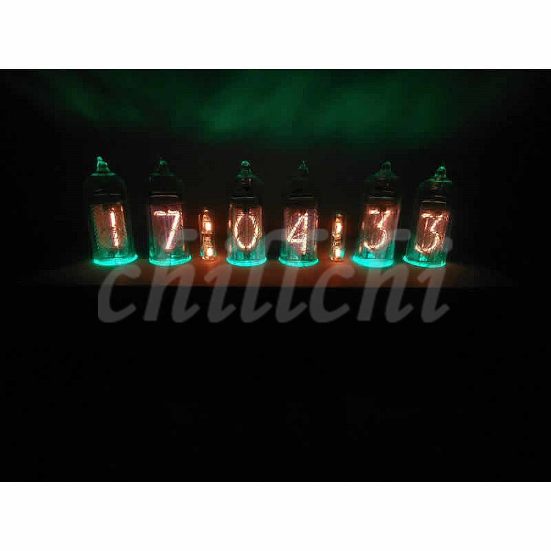 The former Soviet Union DIY IN 14 glow tube tubularbell electronic clock kits with base