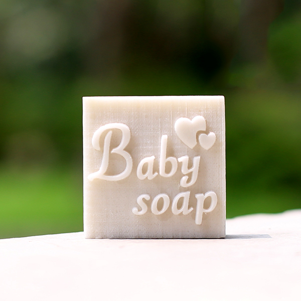 Baby soap pattern handmade resin soap stamp custom DIY new resin seal Soap printed pattern heart soap chapter