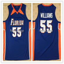 e14df8f20  55 jason williams Florida Gators White blue Mens Basketball Jersey  Stitched Customize any name and number