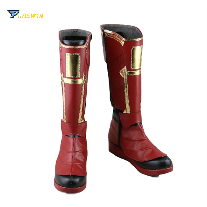 Captain Marvel Ms. Marvel Carol Danvers Cosplay Shoes Ms. Marvel Cosplay Boots Custom Made