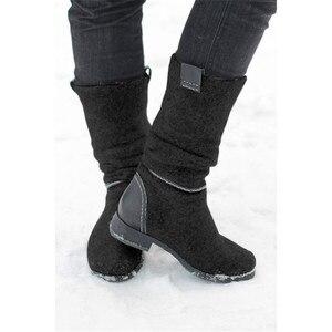 Image 2 - MORAZORA 2020 새로운 도착 발목 부츠 로우 힐 캐주얼 신발 가을 겨울 부츠 숙녀 큰 크기 35 47