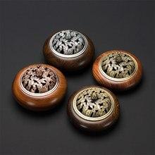 PINNY Wooden Incense Burners Vietnamese Rosewood Coil Censer Crafts Home Decoration Wenge Base Sandalwood
