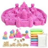 500G Bag Magic Sand 6Pcs Random Toys Model Dynamic Educational No Mess Indoor Magic Play Sand