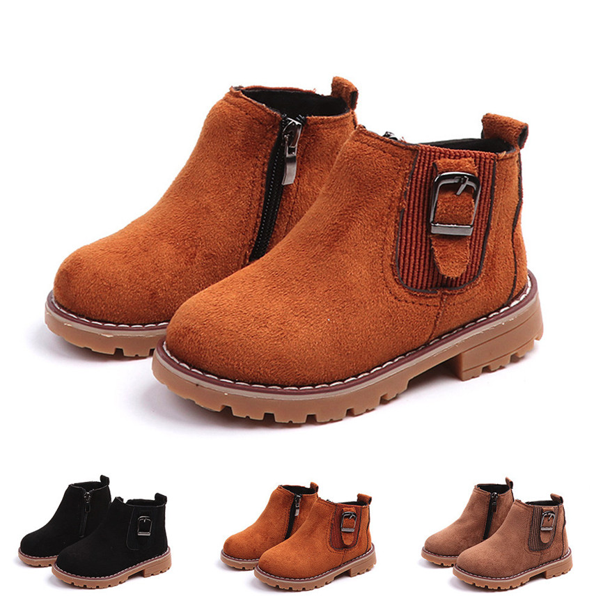 Baby Children Warm Boys Girls Sneakers Boots Kids Flock Casual Snow Shoes