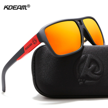 59695056fd KDEAM proteger sus ojos mermeladas polarizado gafas de sol hombres negro  mate gafas de sol hombre