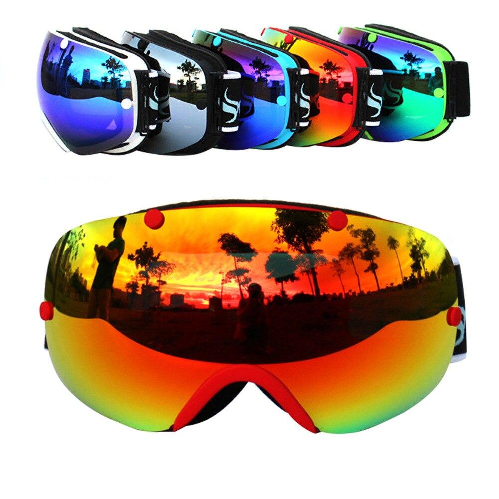 Новый Copozz подлинной бренд лыжные очки с двойными линзами Анти-туман большие сферические профессиональные лыжные очки унисекс многоцветная...