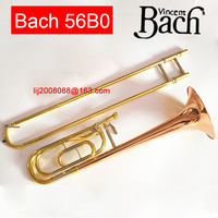 USA tenor trombone Original Product Bach 56BO Bb Phosphorus & Copper Tone Trombone Professional musical instrument free shipping
