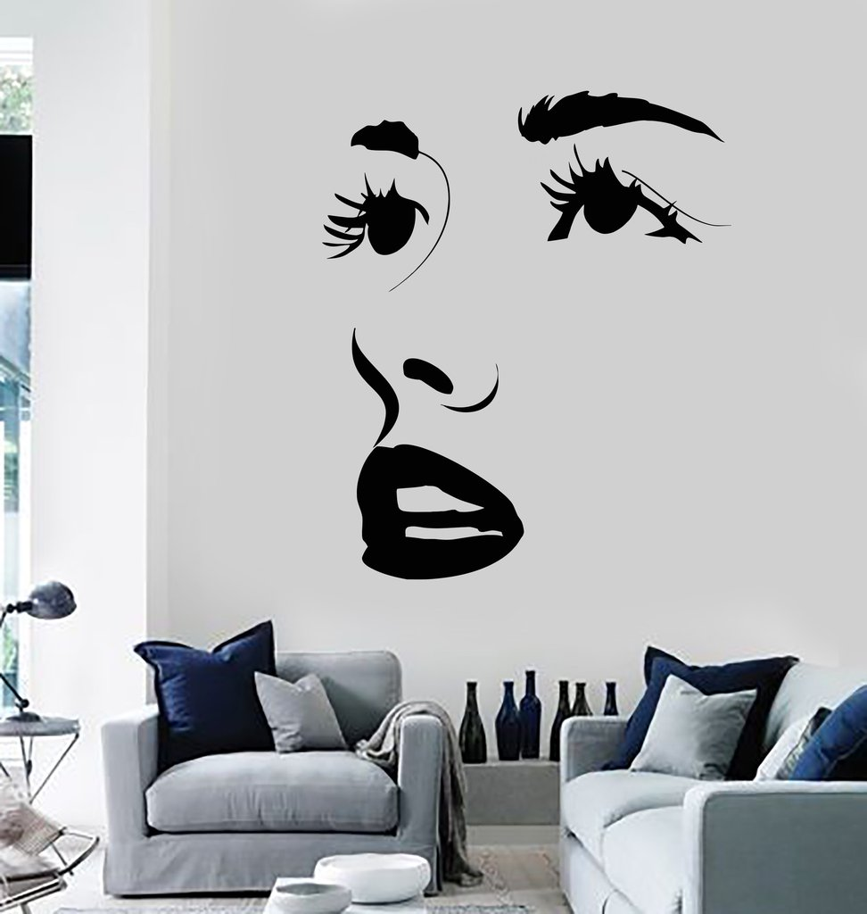 Eyes wall stickers wow modern beauty salon valentine wall decoration - Sexy Face Eyes Lips Wall Sticker Beauty Salon Stickers New Arrivals Wallpaper Hot Selling Wall Decal