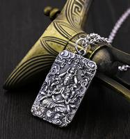 hot sell new free shipping Handmade tibet Silver dragon Angel Sword Necklace pterosaurus Pendant