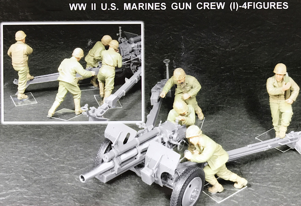 1/35  US Marines War Crew (1) - 4   Toy Resin Model Miniature Kit Unassembly Unpainted