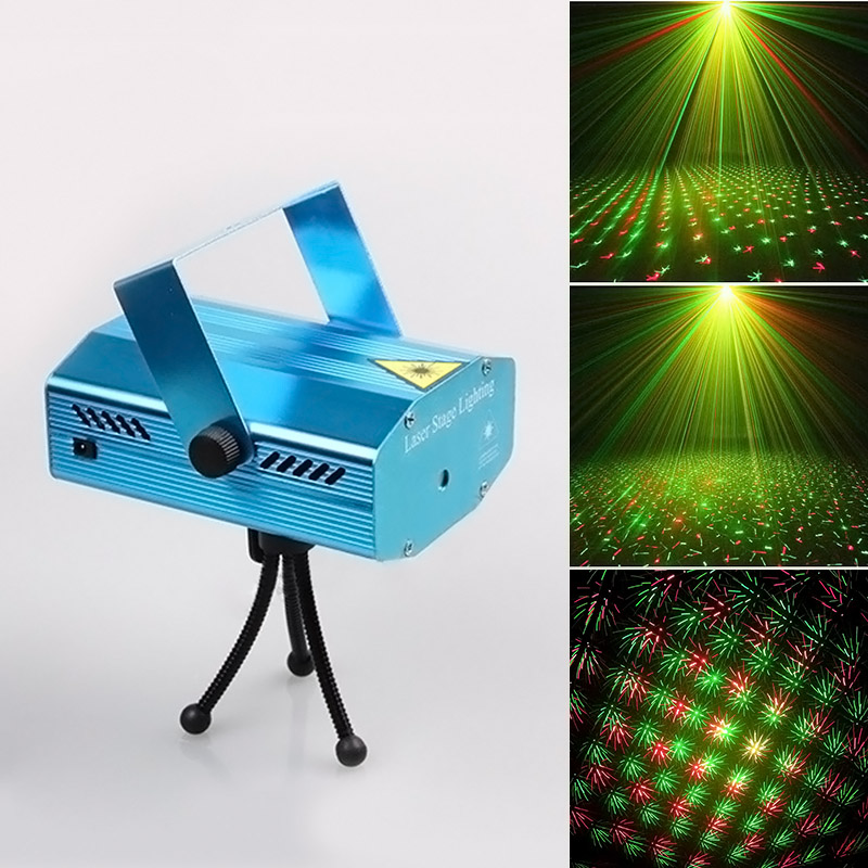 DJ Club Party Music Auto Mode Laser Stage DJ Effects Party Strobe Lights       CLH rg mini 3 lens 24 patterns led laser projector stage lighting effect 3w blue for dj disco party club laser