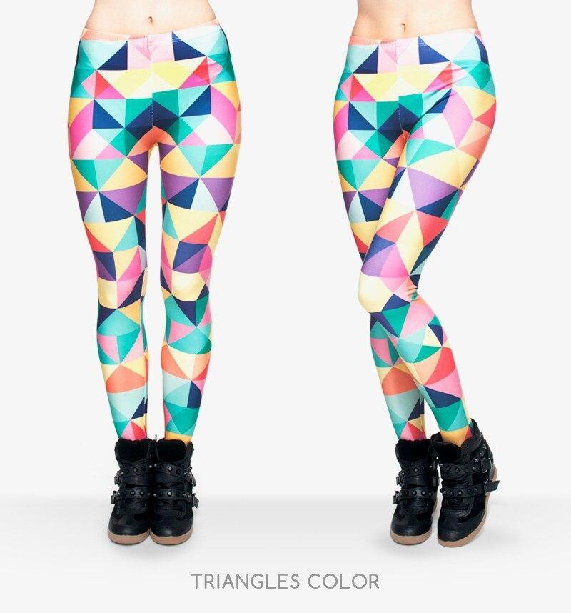 2017 funny leggings 새로운 도착 무료 배송 3d 다채로운 삼각형 레깅스 여성 여성 조커 바지 레깅스-에서레깅스부터 여성 의류 의  그룹 1