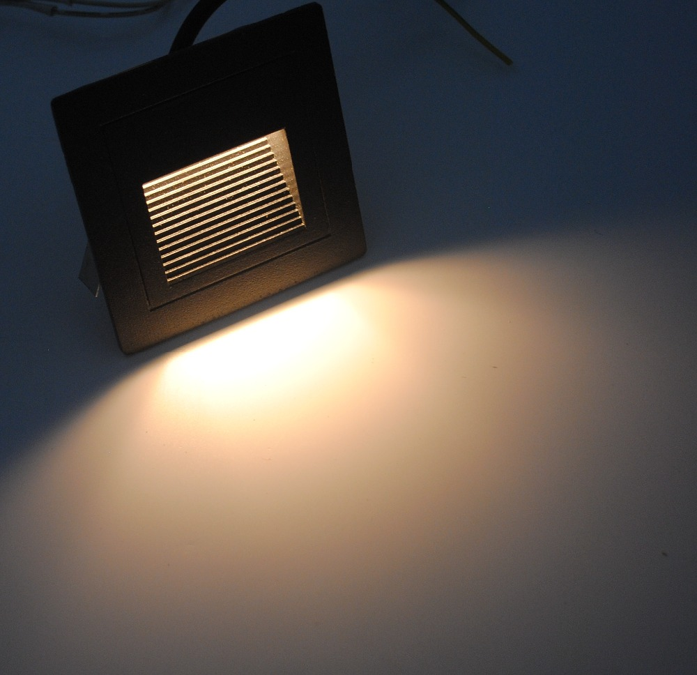 FVTLED 3W LED Light Outdoor Decor Sensor Step board Lamp Square ... for Wall Foot Light  66pct