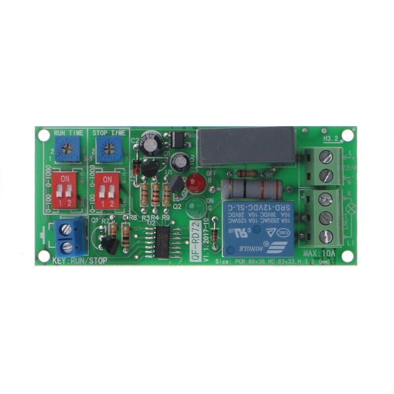 Cycle Delay Timing Timer Relay Switch Turn ON/OFF Module AC 110V 120V 220V 230V