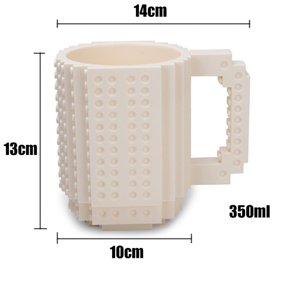Building Blocks Mug Creative Plastic Unbreakable Coffee Tumbler Embling Of Diy Embly Mugs 350ml Christmas Gift In From Home Garden