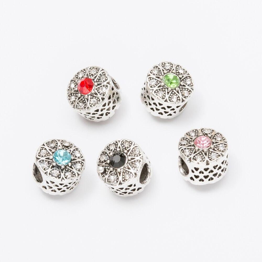 20pcs Crystal Hollow European beads Fit Pandora Charms Original Bracelet Spacer Charm Beads Jewelry Making DIY Berloque js1463