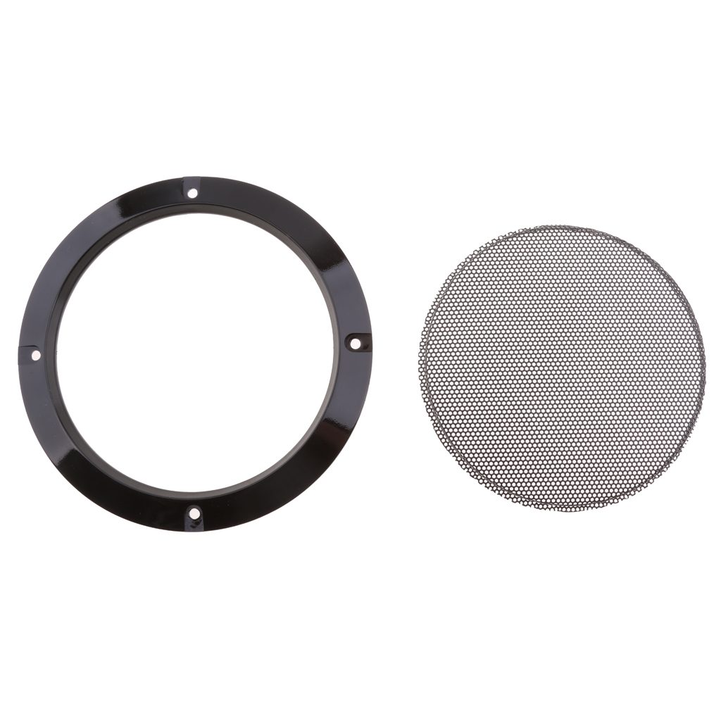 5 Pcs 6.5' inch 165mm Speaker Grills Cover Case with 20 Pcs Screws Car Vehicle Interior Accessories Black