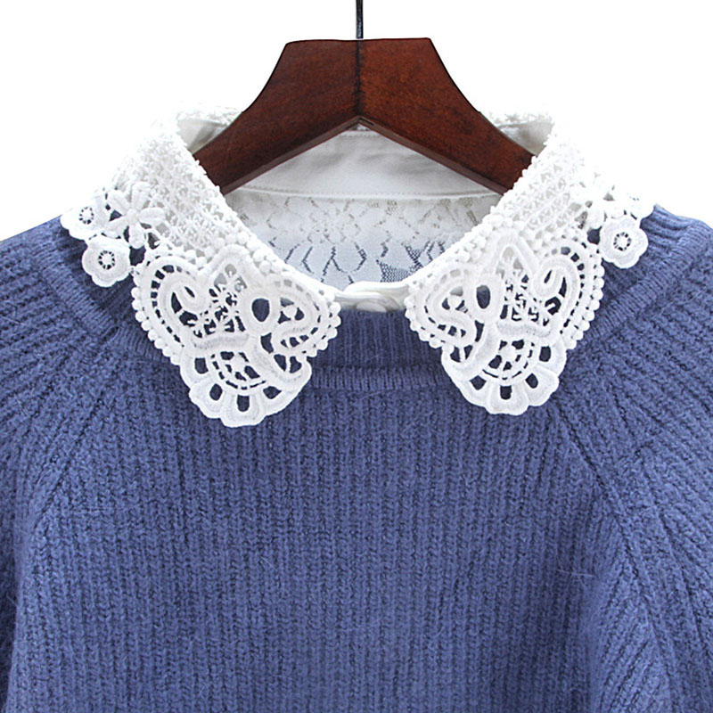 Fashion New Women Lace Collar White Lace Shirt Detachable Collar Apparel Accessories