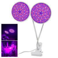 Full Spectrum 290 Led Plant Flower Grow Light Bulb E27 Dual Lamp Lighting Set Desk Clip