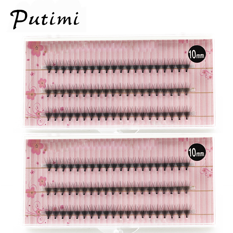 Putimi 60pcs Individual Eyelashes Beams Mink False Eyelashes Cluster 3d Lashes Extension Grafting Fake Eyelashes Bunches Makeup
