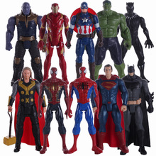 The Avenger Super Hero Action Figure 29CM Thor Captain America Wolverine Spider Man Iron Man Hulk PVC Action Figure Toy Dolls цена