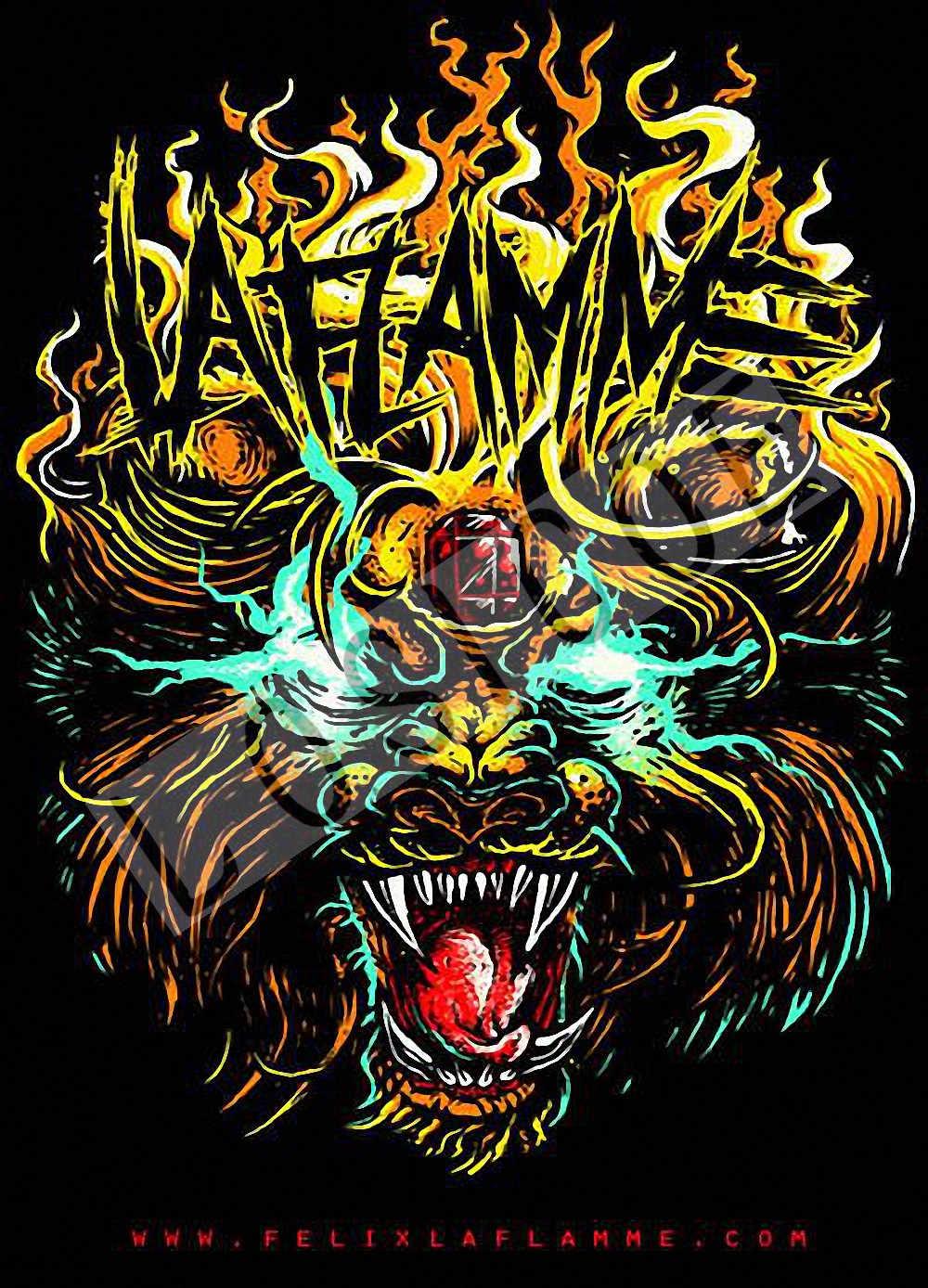 Halloween Poster Art.Tattoo Heavy Metal Rock Band Posters Wall Sticker 30x42 Cm Nostalgia Retro Kraft Paper Hd Inkjet Printing Art Halloween Decor D