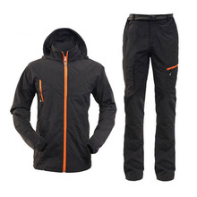 Mens Quick Dry Anti-uv Sunscreen Jacket Pants Lightweight Fishing Clothes Outdoor Hiking