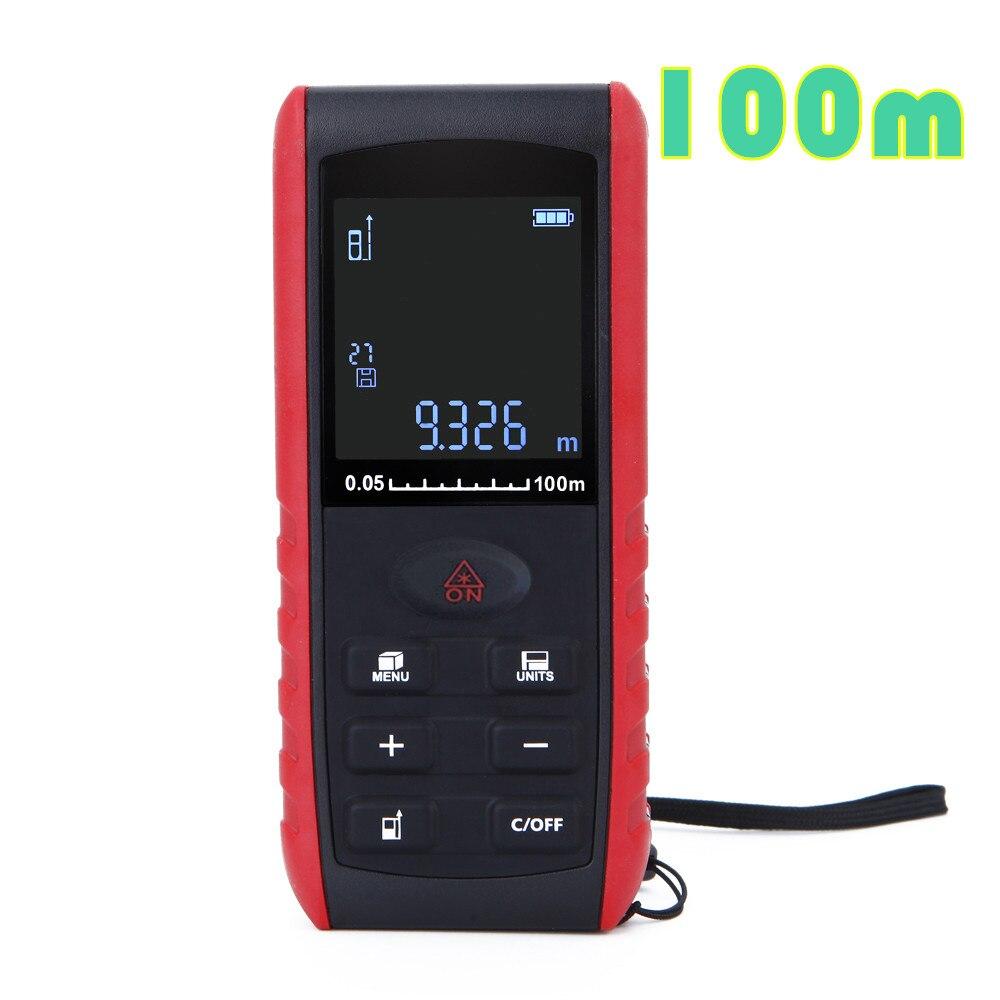by dhl/fedex 10pcs/lot 100m portable electronic digital laser power range finder Area Volume Measurement  dhl 10pcs 100