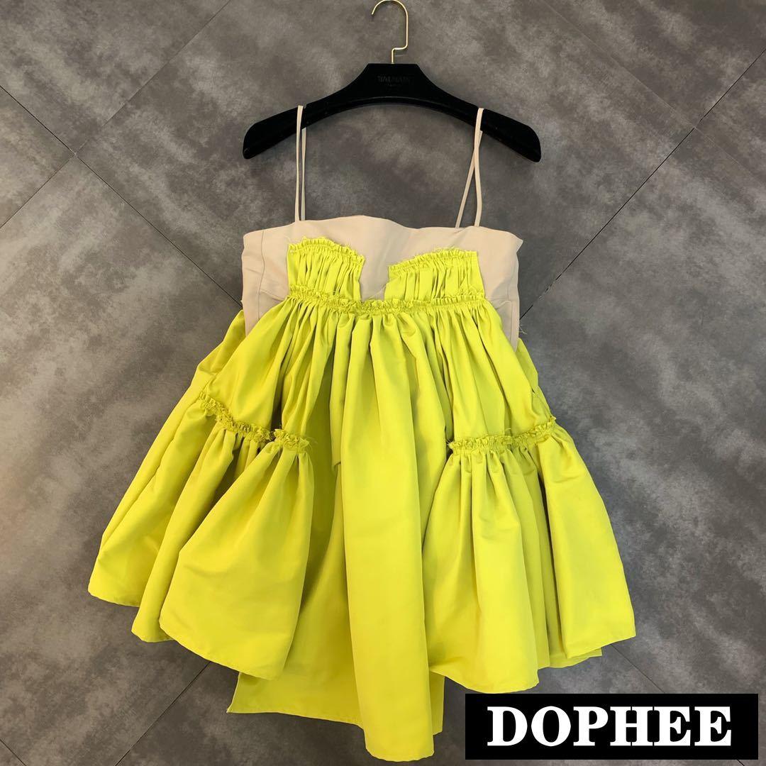 2019 été nouvelle couleur correspondant plissée poupée ébouriffée petite femme Camisole robe pour les filles