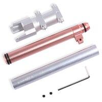 Artefact Mod Fonctionne En Aluminium Alliage Court Bullet Transformé Kit pour Nerf Alpha Trooper-Sivler + Rose