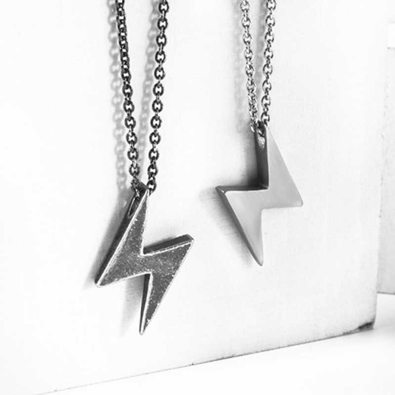 stainless steel necklace New Fashion lightning Pendant Choker trendy gold Necklace Eco-Friendly Boho Chain Necklace Collier