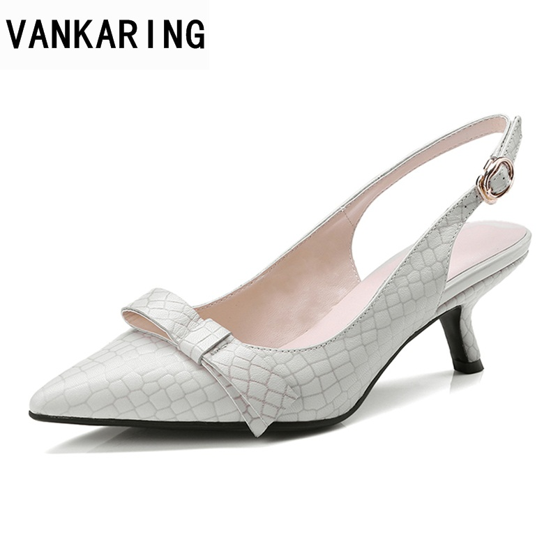VANKARING women fashion sandals summer shoes new sexy high heels pointed toe shoes woman dress party casual gladiator sandals new 2017 summer flat sandals sexy pointed toe designer side buckle sandals woman shoes tide brand woman sandals hollow flats