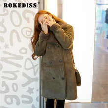 Winter Coat Women Thick Lamb s Wool Coat Women s Clothing Jacket Long Woolen Coats Warm
