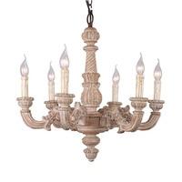 Vintage Amercian Rustic Wooden Chandelier Lamp Living Hotel Bedroom loft Lights Wood Chandelier Lighting Retro Lustres