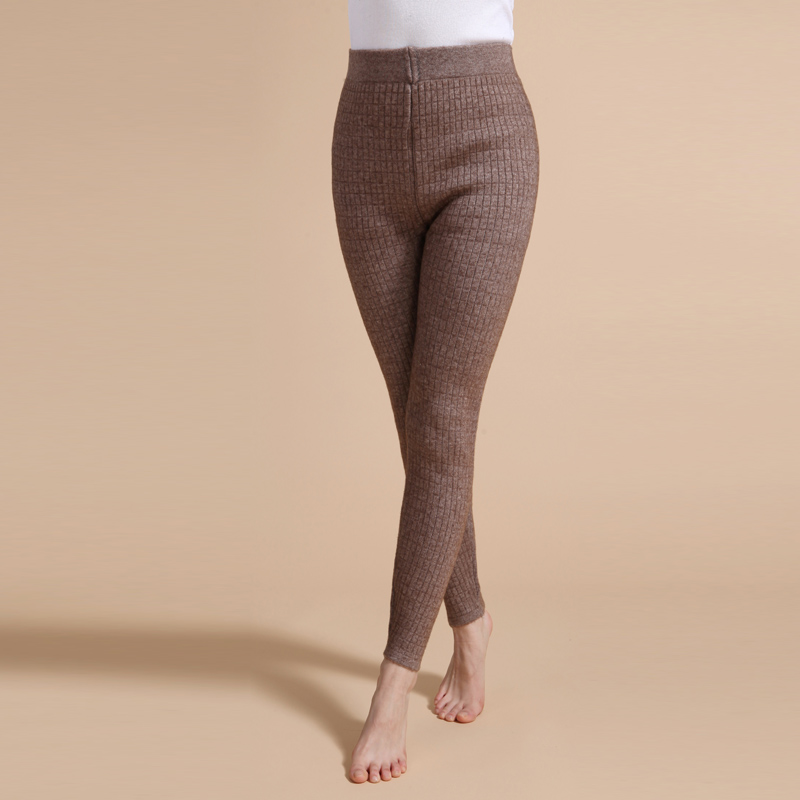 Women's wool pants winter cashmere pants Thick high waist warm pants Wool pants double outer wear Knitted   leggings   cotton