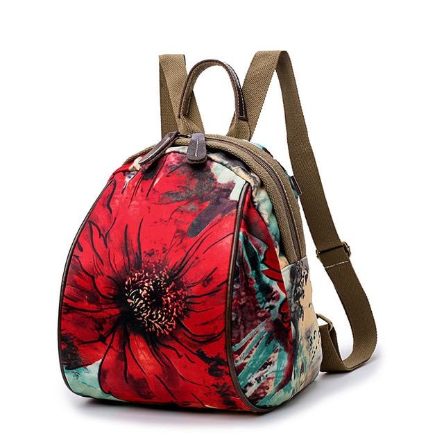 c3afc584479b Fashion Floral Pattern Teenager School Girls Backpacks Big Flowers Print  Women s Backpack Famous Brand Design Mom Pack Mochilas
