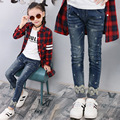 Autumn Denim Pants Jeans For Girls Super Quality Kids Clothing Spring Girl Trousers Fall Children Jeans Pants Leggings Snowflake